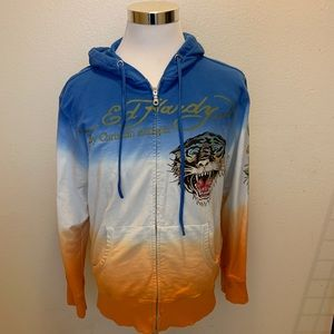 Ed Hardy XL colored hoodie